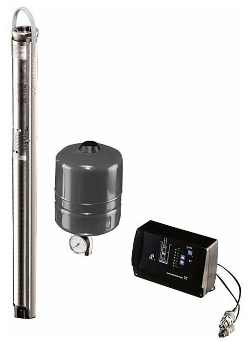 Комплект SQE cкважинный насос Grundfos SQE 5-70 с каб. автоматика CU301 бак 8л - фото 11155
