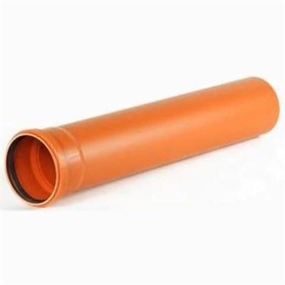 Труба канализационная DN 110х3,2, L=1000мм нар., цвет оранжевый - фото 5981