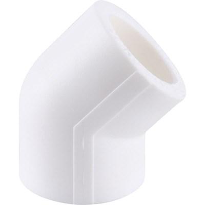 Отвод 45* PP-R 20мм (цвет белый) - фото 5990
