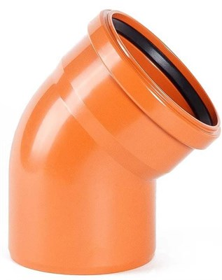 Отвод канализационный D110x30гр., цвет оранжевый - фото 6086