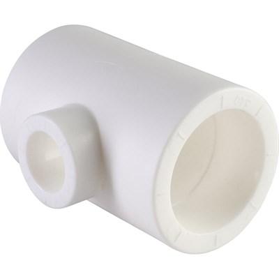 Тройник переходной PP-R 40-25-40мм (цвет белый) - фото 6117