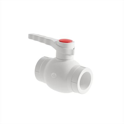 Кран шаровой PP-R 40мм (цвет белый) - фото 6132