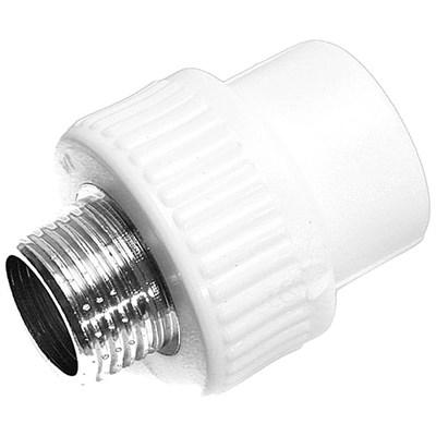 Муфта комб. PP-R с наружной резьбой 20-1\2  (цвет белый), неразъемная - фото 6152