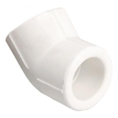 Отвод 45* PP-R 40мм (цвет белый) - фото 6289
