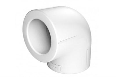 Отвод 90* PP-R Millennium 50мм (цвет белый) - фото 6290