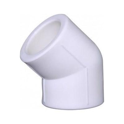 Отвод 45* PP-R 50мм (цвет белый) - фото 6294