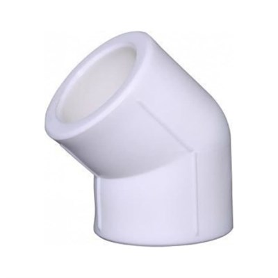 Отвод 45* PP-R 63мм (цвет белый) - фото 6298