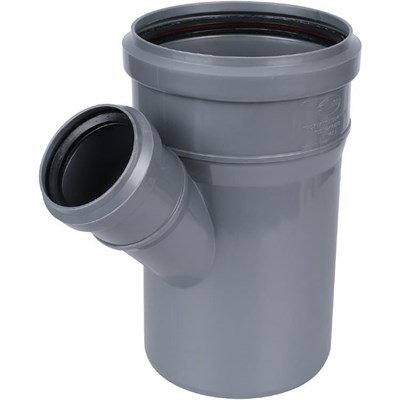 Тройник канализационный D110x50x45 гр., цвет серый - фото 6347