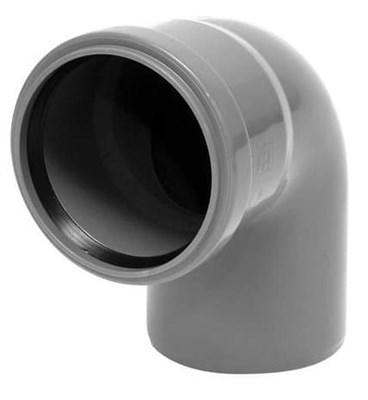 Отвод канализационный 90 град. DN 110, цвет серый - фото 6354