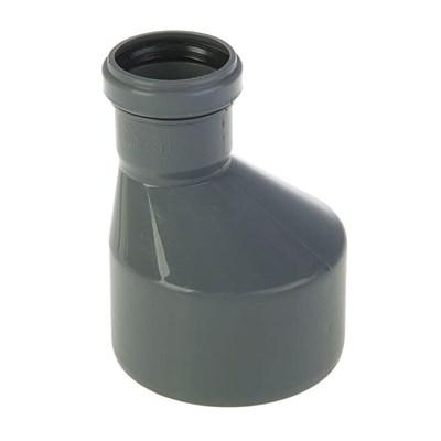 Переход канализационный D110х50 рюмка, цвет серый - фото 6355