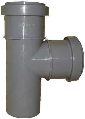 Тройник канализационный D110x110x87гр., цвет серый - фото 6360