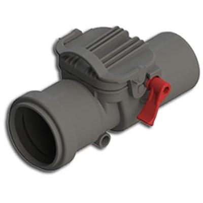 Обратный клапан DN 110, цвет серый - фото 6406