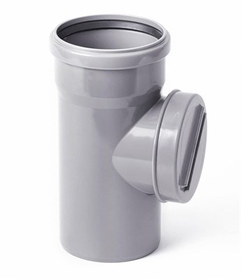Ревизия канализационная с крышкой DN 110, цвет серый - фото 6417