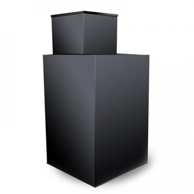 Кессон стальной квадратный с горловиной с муфтой под трубу (1200х1200м, H-2м), 4мм, гильза Д159 - фото 6578