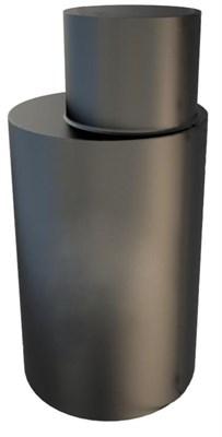 Кессон стальной круглый с горловиной с муфтой под трубу (D-1м, H-2м), 4мм, гильза Д133 - фото 6588