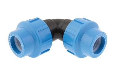 Муфта угловая ПНД соед. труба-труба 50Х50 (синий) - фото 8098
