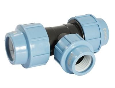 Трoйник ПНД  32 (цвет синий) - фото 8131