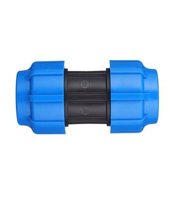 Муфта ПНД 50х50 синий - фото 8140