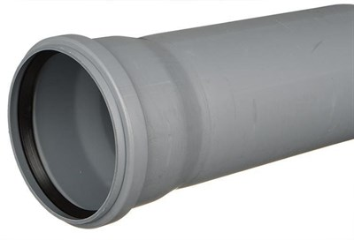 Труба канализационная DN 110х2,7, L=1000мм, цвет серый - фото 8340