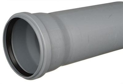 Труба канализационная DN 110х2,7, L=2000мм, цвет серый - фото 8343