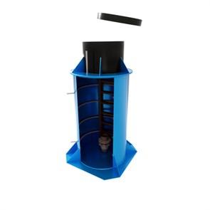ЭКОБАТ Кессон пластиковый тип 5/2 с муфтой, с лестницей, круглый, 1800*2500, 800х500
