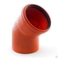 Отвод канализационный D110x45гр., цвет оранжевый