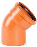 Отвод канализационный D110x30гр., цвет оранжевый