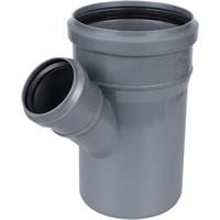 Тройник канализационный D110x50x45 гр., цвет серый