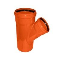 Тройник канализационный D110x110x45гр., цвет оранжевый
