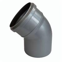Отвод канализационный 45 град. DN 110, цвет серый