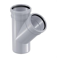 Тройник канализационный D110x110x45гр., цвет серый
