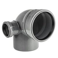 Отвод канализационный D110х50x45гр. левый, цвет серый