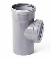 Ревизия канализационная с крышкой DN 110, цвет серый