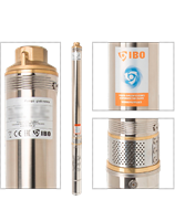 Насос скважинный IBO 2,5STM24 c кабелем 1м  45 л/мин.,диам.,66мм центробежный