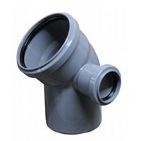 Отвод канализационный D110х50x45гр. правый, цвет серый