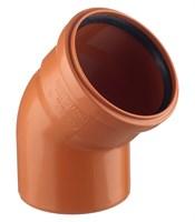 Отвод канализационный D160x45гр., цвет оранжевый
