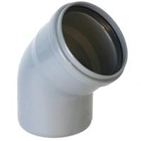 Отвод канализационный 30 град. DN 110, цвет серый