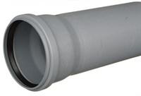Труба канализационная DN 110х2,7, L=1000мм, цвет серый