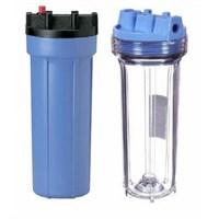 Фильтр прозрачный ST 1 -10  (0,6-8,8 бар, картридж PP 10 мкм, кронштейн, ключ)