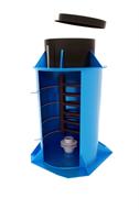ЭКОБАТ Кессон пластиковый  тип 3/2 с муфтой, с лестницей, круглый, 1200х2500, 800х500